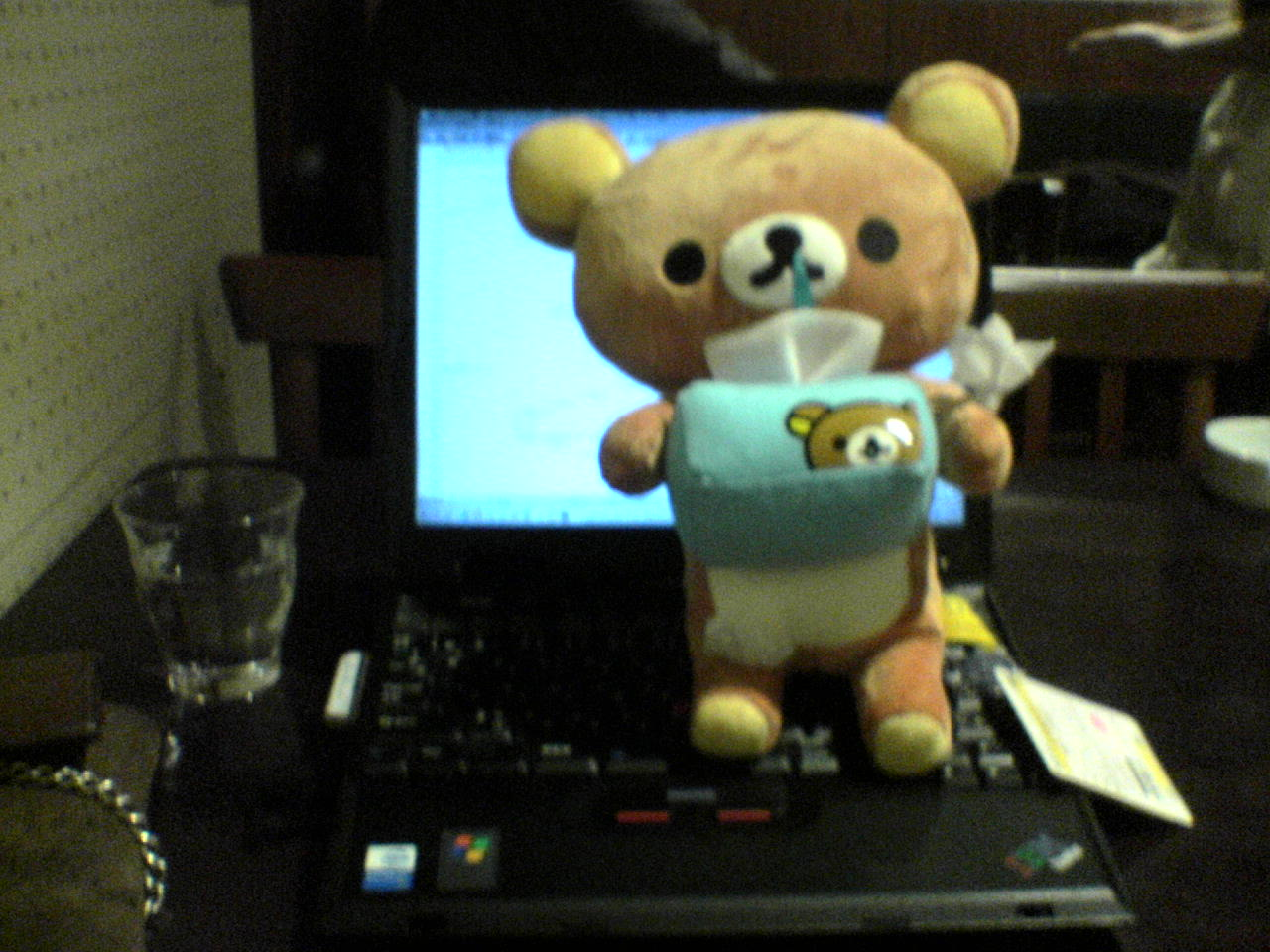 (当時の写真)ThinkPad とリラックマ
